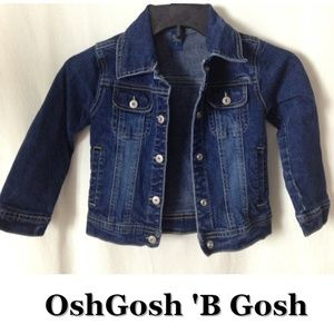 Boys Girls OshGosh B Gosh Blue Jean Jacket Size 5
